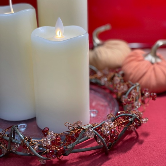 PARTYLITE BEADED MOROCCAN SPICE 12'' CANDLE RING